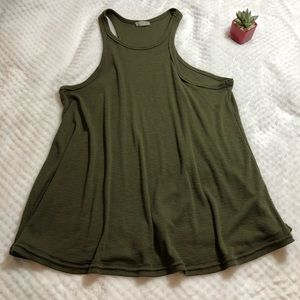 Free People Olive Green Tank Top